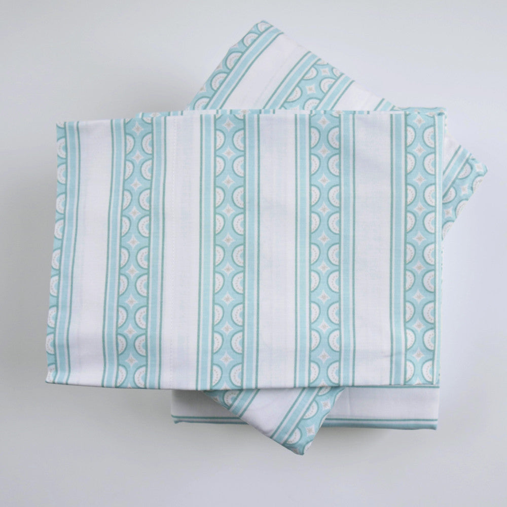 Jade Teacup Stripe Sheet Set