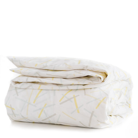 Lemon Pickupstix Duvet Cover + Sham Set