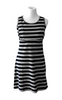 Black/Gray Striped Tank Nursing Dress & Crop Top - Latched on Love  - 2