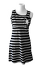 Black/Gray Striped Tank Nursing Dress & Crop Top - Latched on Love  - 3