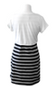 Black/Gray Striped Tank Nursing Dress & Crop Top - Latched on Love  - 5
