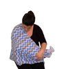 Infinity Nursing Scarf by Latched on Love- Blue Chevron - Latched on Love  - 2