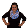Infinity Nursing Scarf by Latched on Love- Blue Chevron - Latched on Love  - 1
