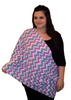Infinity Nursing Scarf by Latched on Love- Pink Chevron - Latched on Love  - 2