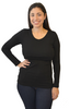 Long Sleeve Nursing Shirt by Latched on Love- Black - Latched on Love  - 2