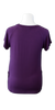 Flowing Short Sleeve Nursing Shirt in Plum - Latched on Love  - 3