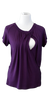 Flowing Short Sleeve Nursing Shirt in Plum - Latched on Love  - 2