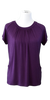 Flowing Short Sleeve Nursing Shirt in Plum - Latched on Love  - 1