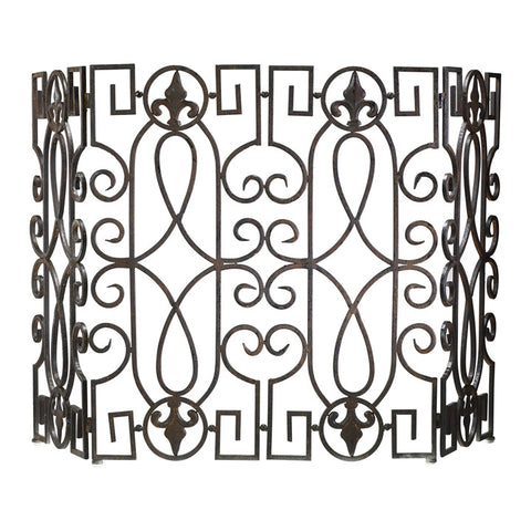 Wrought Iron Fire Screen - Chez Roulez - Floor and Fireplace Screens - Cyan Designs