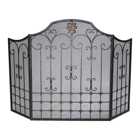 Bronze Fire Screen - Chez Roulez - Floor and Fireplace Screens - Cyan Designs