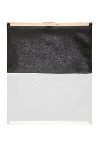 Chez Roulez - Bags and Accessories - Shiraleah - Preston Frame Clutch by Shiraleah - Black