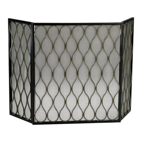 Gold Mesh Fire Screen - Chez Roulez - Floor and Fireplace Screens - Cyan Designs