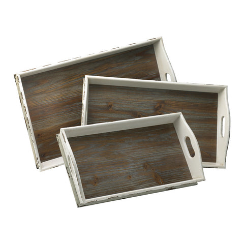 Alder Nesting Trays - Set of 3 - Chez Roulez - Containers and Trays - Cyan Designs