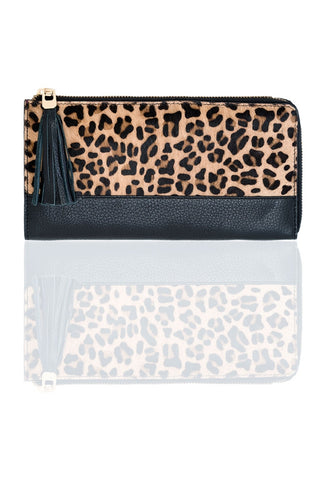 Preston Long Zip Wallet by Shiraleah - Leopard - Chez Roulez - Bags and Accessories - Shiraleah