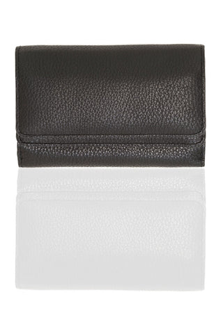 Chez Roulez - Bags and Accessories - Shiraleah - Preston Fold Wallet by Shiraleah - Black - 1