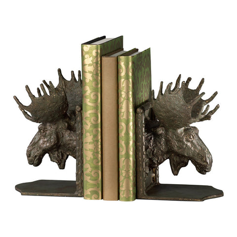 Moosehead Bookends - Set of 2 - Chez Roulez - Decorative Accents - Cyan Designs