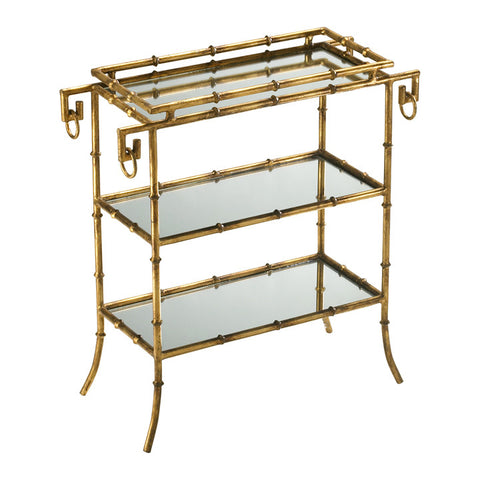 Bamboo Tray Trable - Chez Roulez - Wine Carts and Cabinets - Cyan Designs