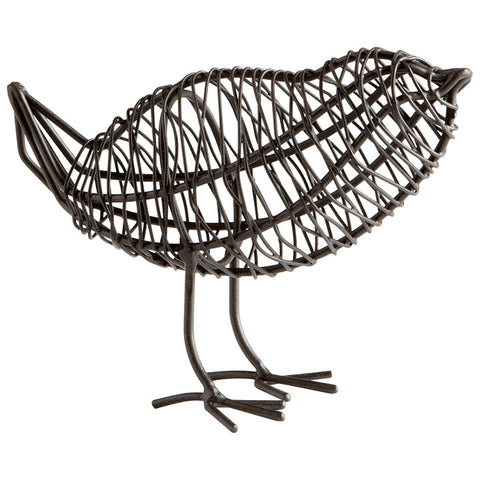 Bird on a Wire Sculpture - Small - Chez Roulez - Decorative Accents - Cyan Designs