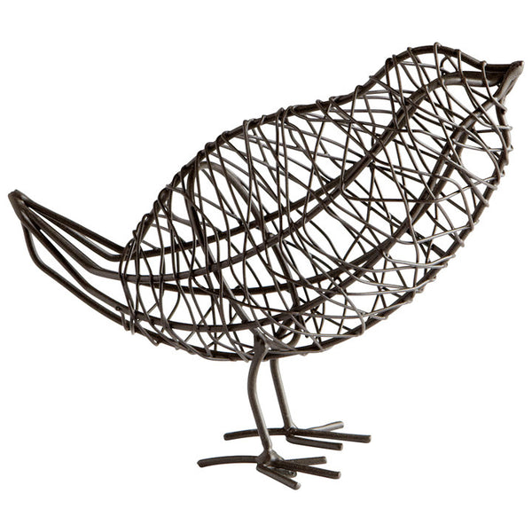 Bird on a Wire Sculpture - Large - Chez Roulez - Decorative Accents - Cyan Designs