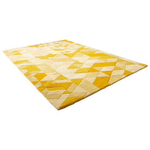 Chez Roulez - Rugs - Cyan Designs - Facets Gold Rug - 1