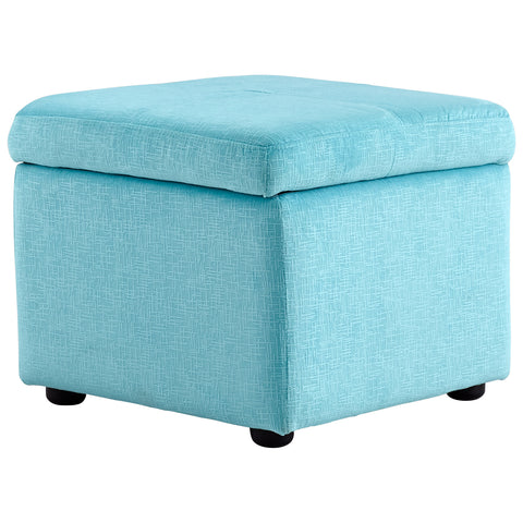 Chez Roulez - Seating - Cyan Designs - Huffington Ottoman - Blue - 1