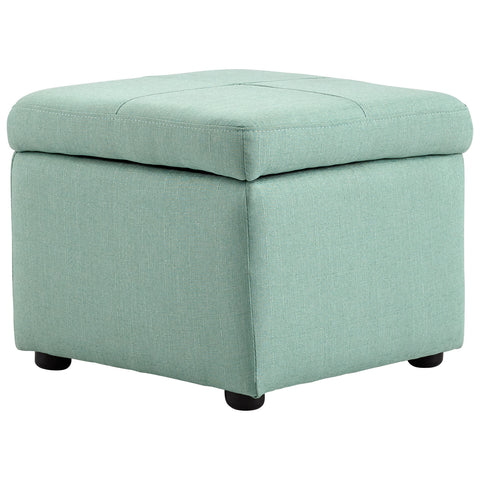 Chez Roulez - Seating - Cyan Designs - Huffington Ottoman - Green - 1