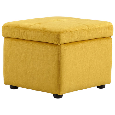 Chez Roulez - Seating - Cyan Designs - Huffington Ottoman - Yellow - 1