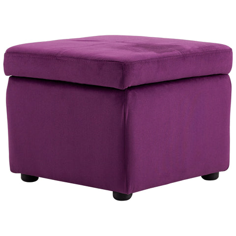 Chez Roulez - Seating - Cyan Designs - Huffington Ottoman - Purple - 1
