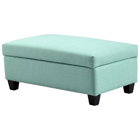 Chez Roulez - Seating - Cyan Designs - Aldous Ottoman - Green - 1