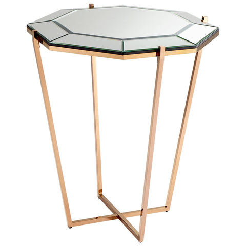 Chez Roulez - Consoles - Cyan Designs - Elara Foyer Table - Rose Gold