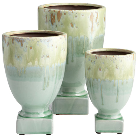 Chez Roulez - Vases, Planters and Urns - Cyan Designs - Bella Delta Planter - Medium - 1