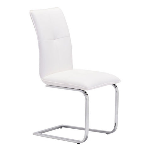 Chez Roulez - Dining Chairs - ZUO - ANJOU DINING CHAIR - WHITE  - Set of TWO chairs - 1