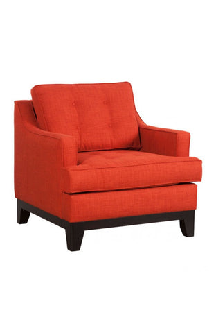 Chez Roulez - Seating - ZUO - Chicago Arm Chair - Burnt Orange - 1