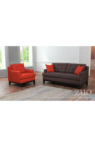 Chicago Arm Chair - Burnt Orange