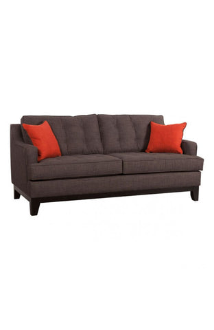 Chez Roulez - Seating - ZUO - Chicago Sofa - Charcoal and Burnt Orange - 1