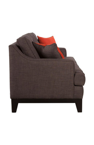 Chicago Sofa - Charcoal and Burnt Orange