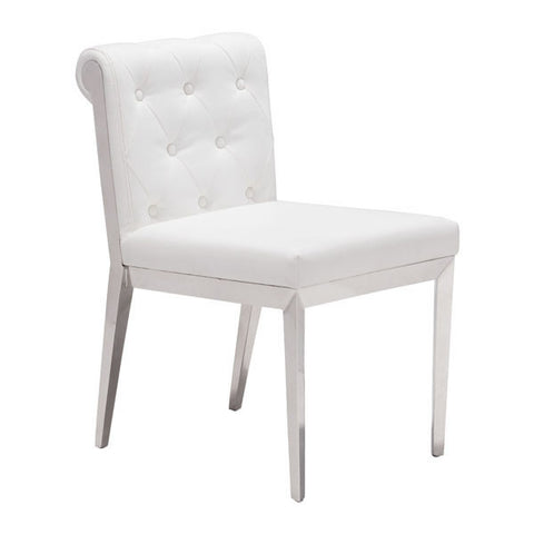 Chez Roulez - Dining Chairs - ZUO - ARIS DINING CHAIR - WHITE  - Set of TWO chairs - 1