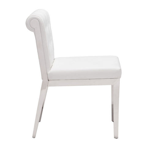 ARIS DINING CHAIR - WHITE  - Set of TWO chairs