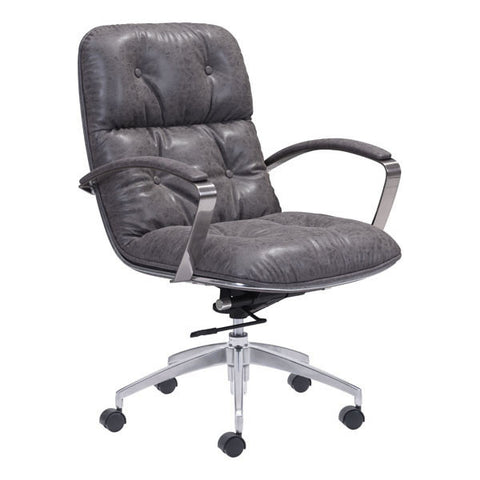 Chez Roulez - Office Chairs - ZUO - Avenue Office Chair - Vintage Gray - 1