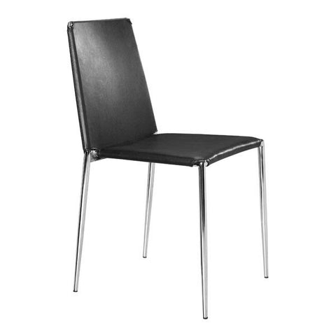 Chez Roulez - Dining Chairs - ZUO - ALEX DINING CHAIR - BLACK  - Set of FOUR chairs - 1