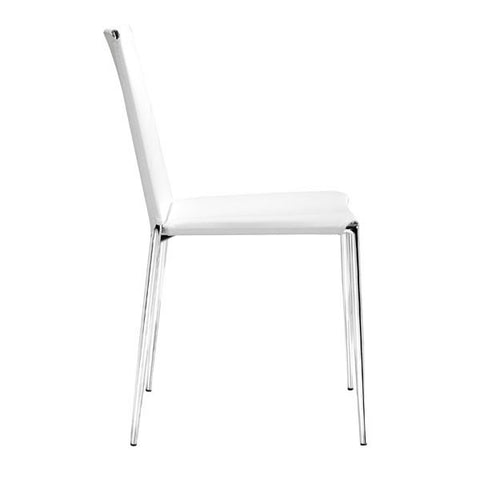 ALEX DINING CHAIR - WHITE  - Set of FOUR chairs