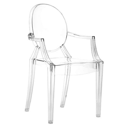 Chez Roulez - Dining Chairs - ZUO - ANIME DINING CHAIR - TRANSPARENT  - Set of FOUR chairs - 1