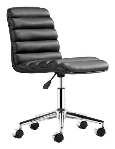 Chez Roulez - Office Chairs - ZUO - ADMIRE OFFICE CHAIR - BLACK - 1