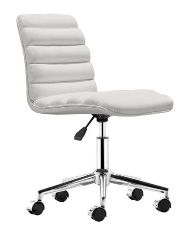 Chez Roulez - Office Chairs - ZUO - ADMIRE OFFICE CHAIR - WHITE - 1
