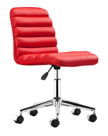Chez Roulez - Office Chairs - ZUO - ADMIRE OFFICE CHAIR - RED - 1