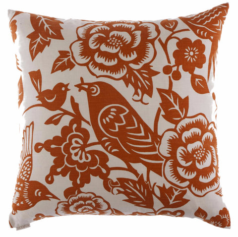 Billybird-Tangerine Throw Pillow