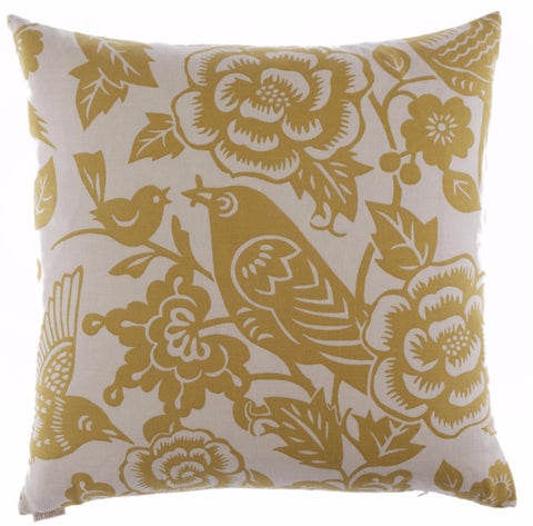 Chez Roulez - Pillows - DV Kap - Billybird-Yellow Throw Pillow