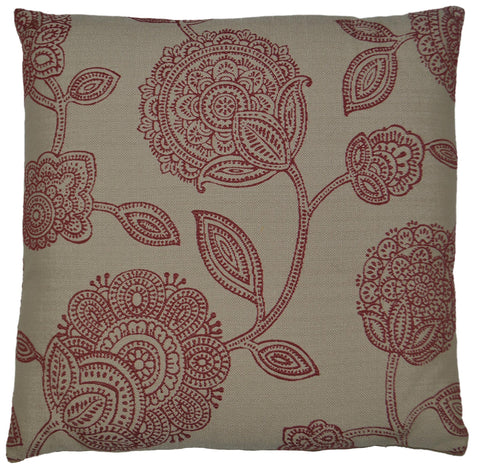 Adeline-Red Throw Pillow