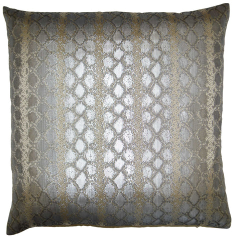Anaconda-Silver Throw Pillow
