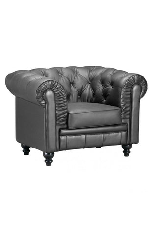 Chez Roulez - Seating - ZUO - Aristocrat Arm Chair - Black - 1